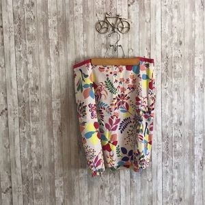 Boden floral cotton midi skirt